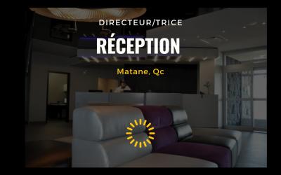 RECHERCHÉ – Directeur de la réception