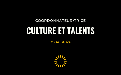 RECHERCHÉ – Coordonnateur, Culture et talents